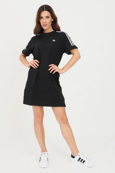 ADIDAS Abito adicolor classics roll-up sleeve tee nero adidas corto con spacchetti  Abiti   GN2777.