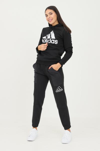 ADIDAS Pantaloni brand love embroidered logo donna nero adidas sport  Pantaloni | GS1358.