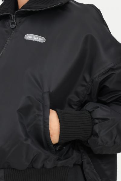 ADIDAS Bomber elongated rib donna nero adidas chiusura zip frontale  Giubbotti   GU1768.