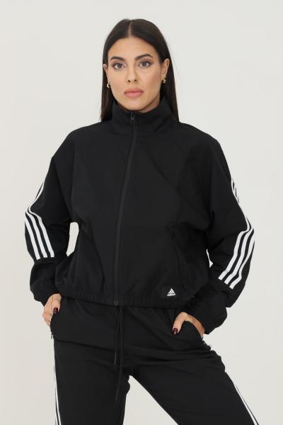 ADIDAS Giacca da allenamento adidas sportswear future icons woven donna nero con zip  Giubbotti   GU9684.