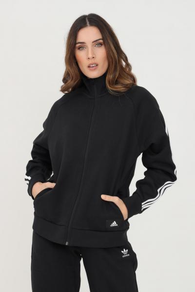 ADIDAS Giacca da allenamento adidas sportswear future icons 3-stripes donna nero con zip  Felpe   GU9693.