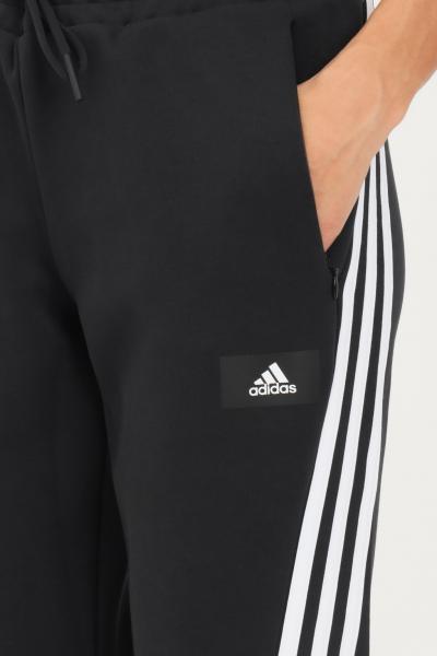 ADIDAS Pantaloni adidas sportswear future icons 3-stripes flare donna nero casual  Pantaloni | GU9698.