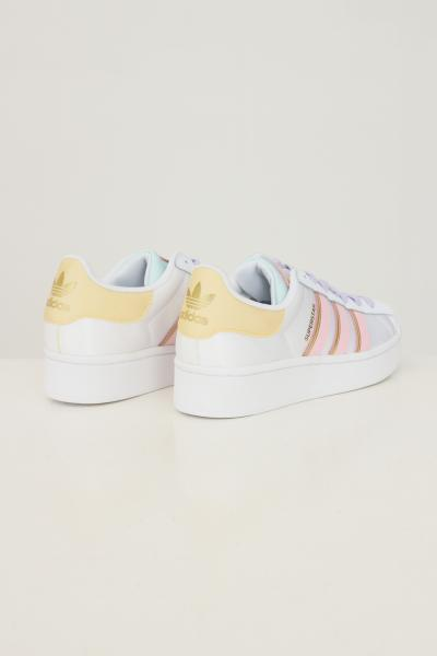 ADIDAS Sneakers superstar bold w donna bianco con bande a contrasto  Sneakers | H00681.
