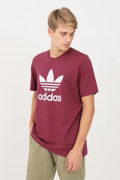 ADIDAS T-shirt classic trefoil uomo viola adidas a manica corta  T-shirt   H06641.
