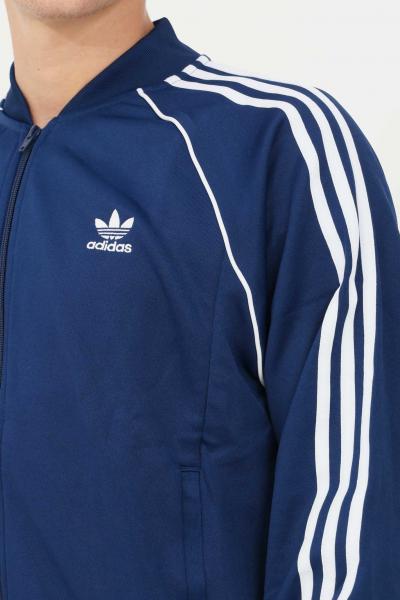 ADIDAS Felpa track jacket adicolor classics primeblue sst uomo blu adidas con zip  Felpe   H06710.