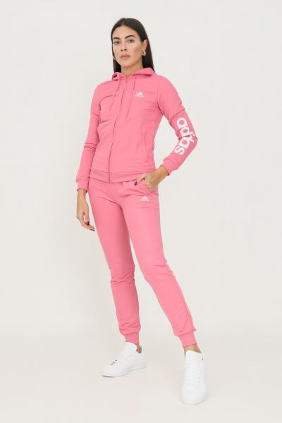 ADIDAS Tuta essentials logo french terry donna rosa adidas  Tute | H07870.