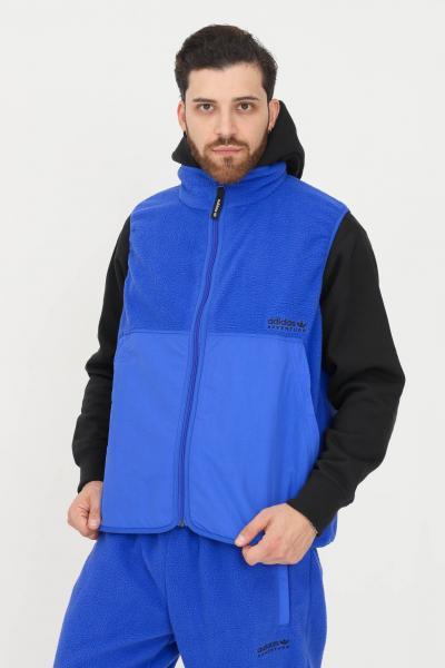 ADIDAS Giacca senza maniche adidas adventure polar fleece uomo blu  Giubbotti | H09069.