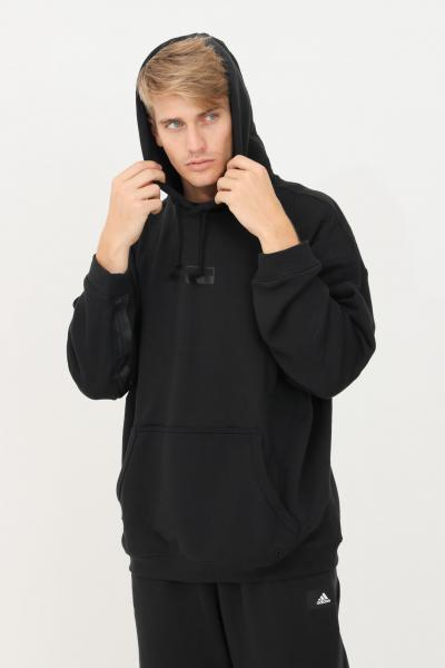 ADIDAS Felpa hoodie ryv loose fit uomo nero adidas con cappuccio  Felpe   H11479.