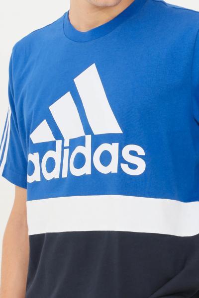 ADIDAS T-shirt essential colorblock uomo blue adidas a manica corta  T-shirt   H14628.