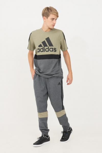 ADIDAS Pantaloni essentials colorblock uomo grigio adidas sport  Pantaloni   H14632.