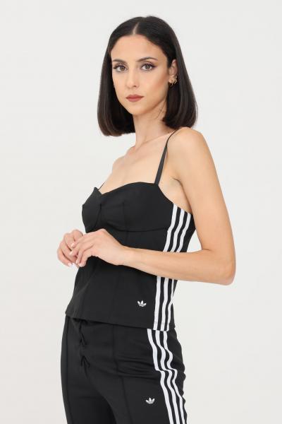 ADIDAS Top donna nero adidas modello corsetto  Top   H15810.