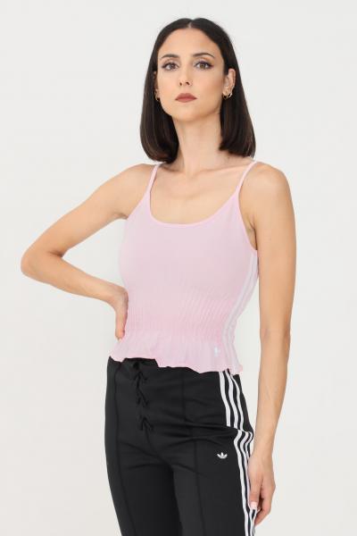 ADIDAS Top donna rosa adidas con balze  Top   H17933.