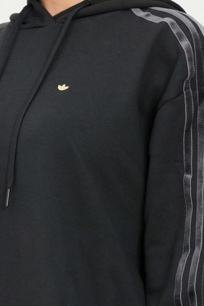 ADIDAS Felpa nero donna adidas con cappuccio  Felpe   H18039.