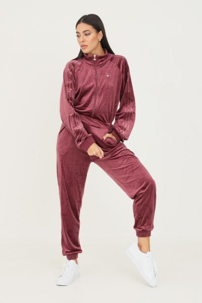 ADIDAS Tuta boilersuit cozy velvet donna bordeaux adidas  Tute | H18047.
