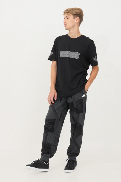 ADIDAS Pantaloni adidas sportswear graphic uomo grigio casual  Pantaloni   H18418.