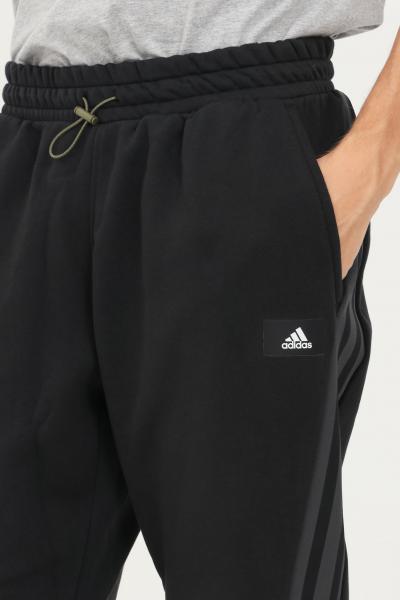 ADIDAS Pantaloni uomo nero adidas con coulisse in vita  Pantaloni   H21552.