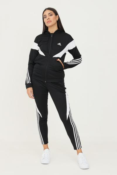 ADIDAS Tuta adidas sportswear colorblock donna nero  Tute | H24115.