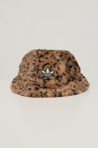 ADIDAS Cappello adidas sprt faux fur printed bucket da donna animalier  Cappelli   H35548.