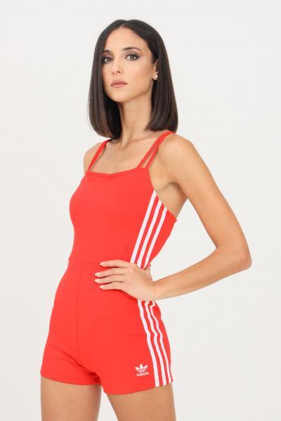 ADIDAS Tutina playsuit adicolor classics da donna rosso adidas modello casual taglio corto  Tute | H37782.