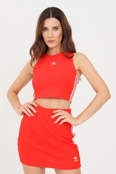 ADIDAS Crop top donna rosso adidas modello casual  Top   H38733.