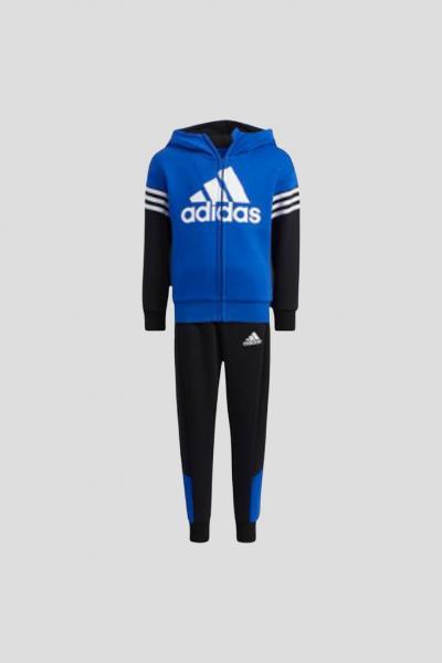 ADIDAS Completo badge of sport fleece bambino unisex blu addas  Tute | H40266.