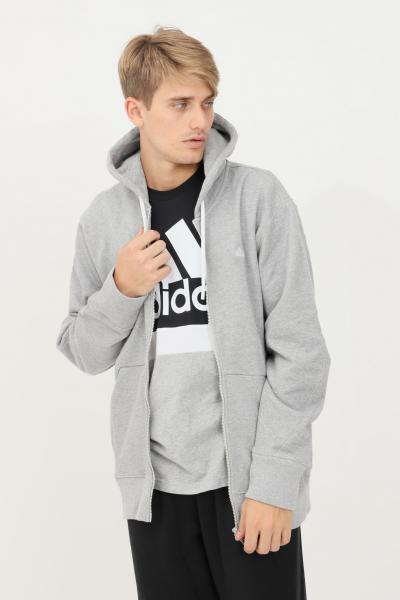 ADIDAS Felpa m fi cc fz uomo grigio adidas con zip e cappuccio  Felpe   H45371.