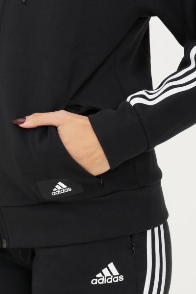 ADIDAS Giacca da allenamento adidas sportswear future icons 3-stripes hooded donna nero  Felpe   H51143.