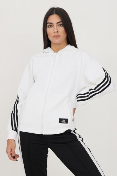 ADIDAS Giacca da allenamento adidas sportswear future icons 3-stripes hooded donna bianco con cappuccio e zip  Felpe   H51145.