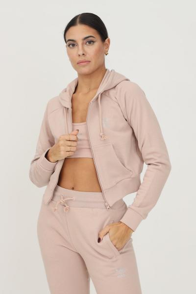 ADIDAS Track top adidas 2000 luxe cropped donna beige con zip e cappuccio  Felpe | HF6766.