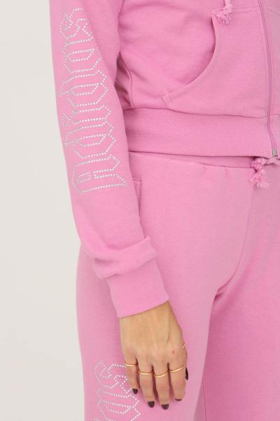 ADIDAS Track top adidas 2000 luxe cropped donna rosa con zip e cappuccio  Felpe | HF6767.