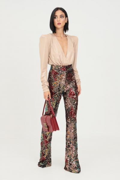 ALMA SANCHEZ Pantaloni donna fantasia alma sanchez elegante con paillettes  Pantaloni | MARAMULTICOLOR