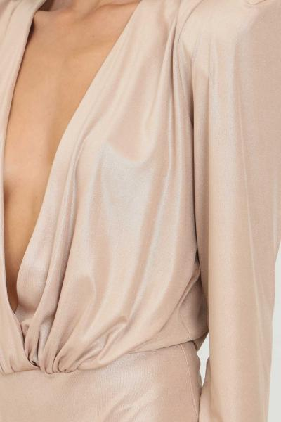 ALMA SANCHEZ Body donna oro alma sanchez elegante con spalline interne  Body | PATRICIABRONZO