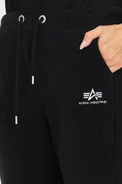 ALPHA INDUSTRIES Pantaloni donna nero alpha industries modello casual con elastico in vita  Pantaloni | 11807003