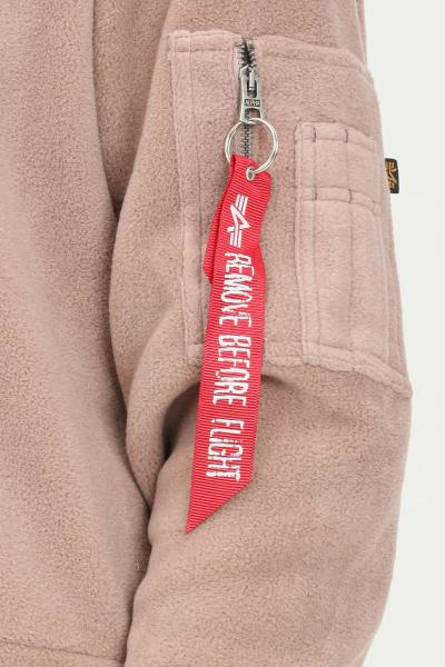 ALPHA INDUSTRIES Felpa con cappuccio polar fleece donna terra con ricamo logo alpha industries  Felpe | 128055416