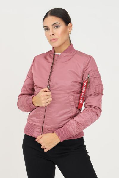 ALPHA INDUSTRIES Giubbotto donna rosa alpha industries con zip frontale  Giubbotti | 13300960