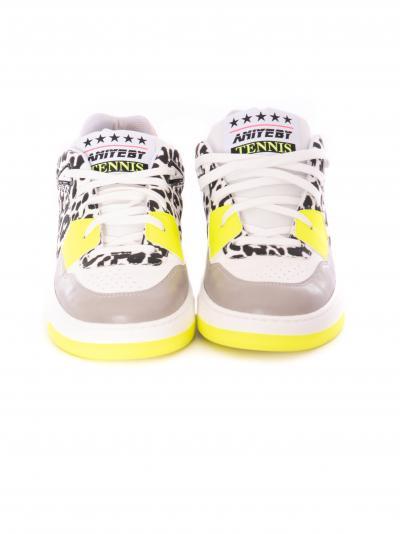 Tennis in pelle con dettagli colorati  scarpe | 1A102202068