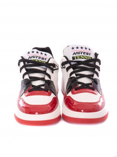 Tennis in pelle con dettagli in vernice  scarpe | 1A102302067