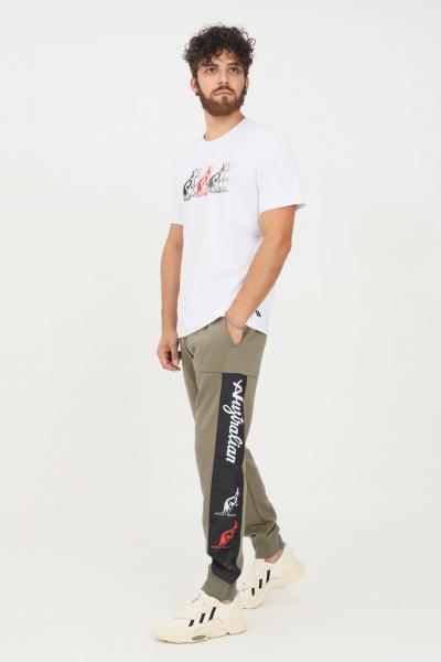 AUSTRALIAN Pantaloni uomo verde australian modello casual con logo laterale  Pantaloni | SWUPA0007104