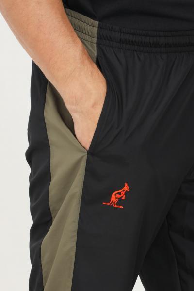 AUSTRALIAN Pantaloni uomo nero australian casual con inserti a contrasto  Pantaloni | SWUPA0012003