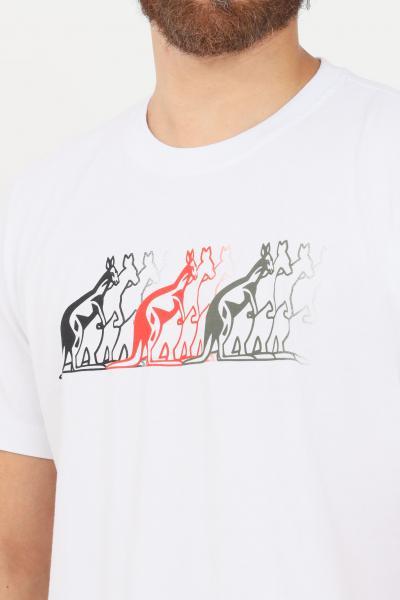 AUSTRALIAN T-shirt uomo bianco australian a manica corta  T-shirt | SWUTS0033002