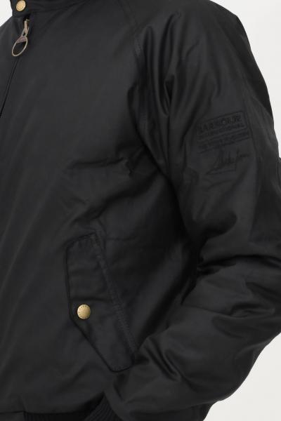 BARBOUR INTERNATIONAL Giubbotto reelin uomo nero barbour con colletto a costine  Giubbotti | 212-MWX0465MWXBK71