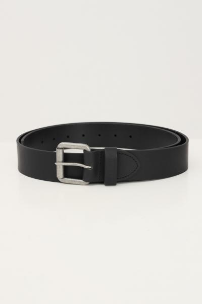 BARBOUR Cintura uomo nero barbour con fibbia silver  Cinture | 212-MAC0111MACBK31