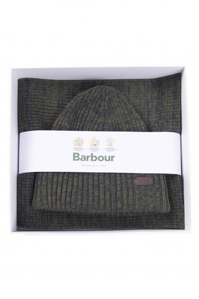 BARBOUR Set uomo cappello e sciarpa verde barbour  Sciarpe | 212-MGS0019MGSOL71