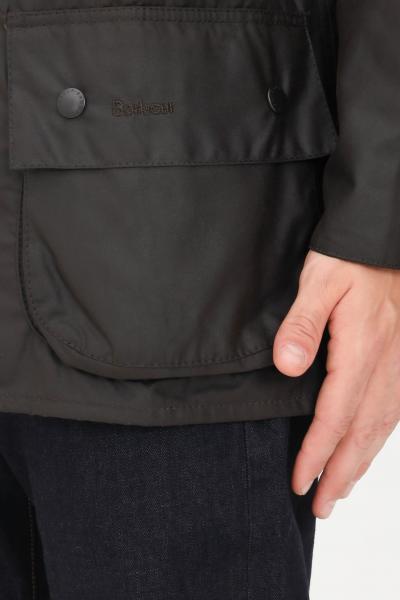 BARBOUR Giubbotto uomo verde barbour con chiusura zip e bottoni a pressione  Giacche | 212-MWX0002MWXOL71
