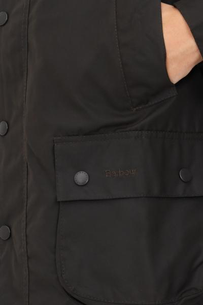 BARBOUR Giubbotto uomo verde barbour con colletto a costine e zip integrale  Giacche | 212-MWX0010MWXOL71