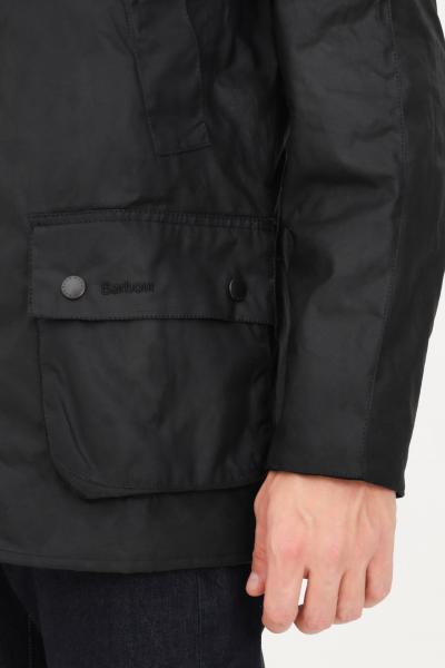 BARBOUR Bomber uomo nero barbour chiusura con zip e bottoni  Giacche | 212-MWX0339MWXBK71