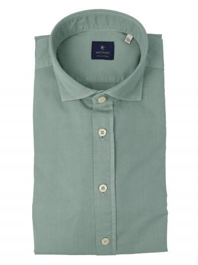 BASTONCINO Camicia tinto in capo delavè, in twill di cotone vestibilità semi slim  Camicie | SIMOB137907