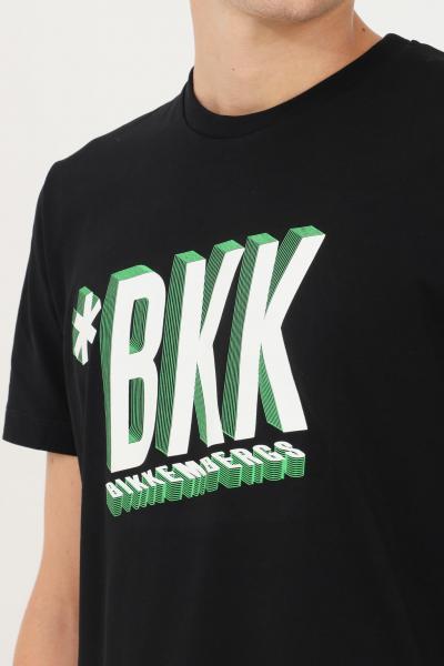 BIKKEMBERGS T-shirt uomo nero bikkembergs a manica corta con stampa frontale  T-shirt   C410148E2296C74
