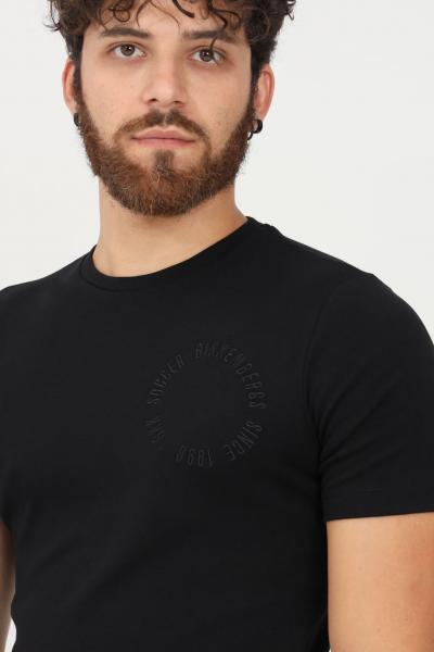 BIKKEMBERGS T-shirt uomo nero bikkembergs a manica corta  T-shirt   C412002E2298C74