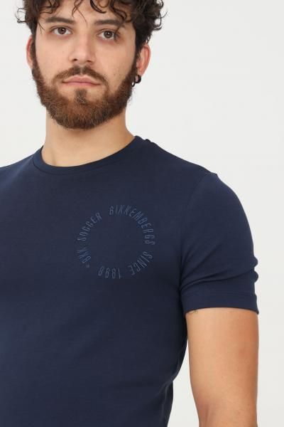 BIKKEMBERGS T-shirt uomo blu bikkembergs a manica corta  T-shirt   C412002E2298Y91